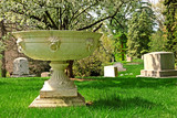 memorial grave markers at historic spring grove cemetery in cinc poster
