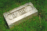 here lies daddy at rest poster