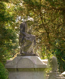 memorial grave marker at historic spring grove cemetery in cinci poster