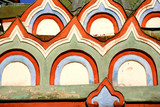 close up of ancient russian orthodox church design poster