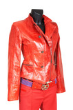 red a jacket and trousers poster