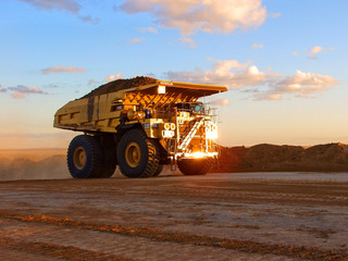 mining truck carting coal