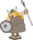 viking woman poster