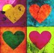 Quadro 4 grunge hearts