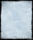 iced blue scratched background poster