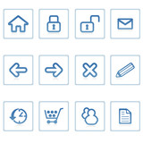 web icons : website and internet i
