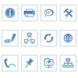 Fototapety web icons : communication & internet