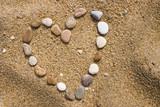 Fototapety coeur de galets