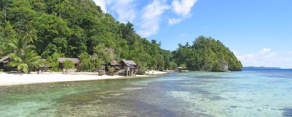 beach of pulau kadidiri, togians island, sulawesi, indonesia, pa