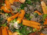carottes et viande poster
