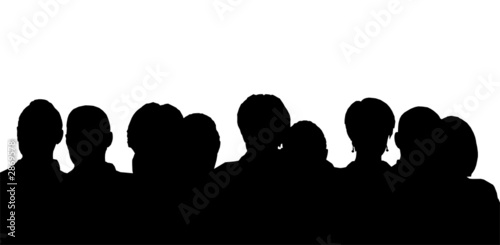 canvas print picture people heads silhouette
