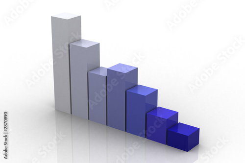 3d bar graph reflected
