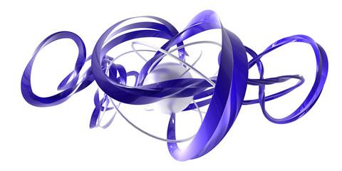 vortex bleu fil argent