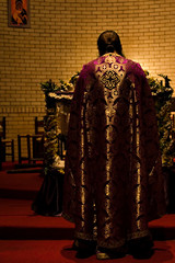 priest in the altar