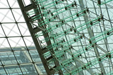 high-tech glass facade