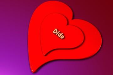 dido - herz in 3d gerendert (liebe)
