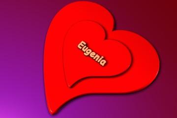 eugenia - herz in 3d gerendert (liebe)
