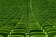 empty green seat backs