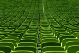 empty green seat backs