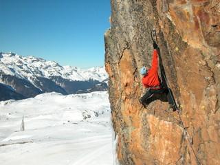 dry tooling à l'alpe d'huez