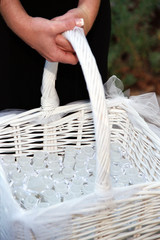 wedding bubbles in basket