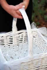 wedding bubbles in basket