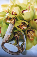 bouquet with makeup mirror