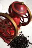 antique coffee grinder poster