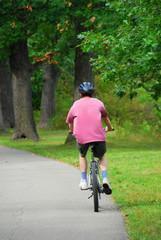 man bicycling