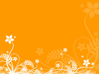 design element fin orange background