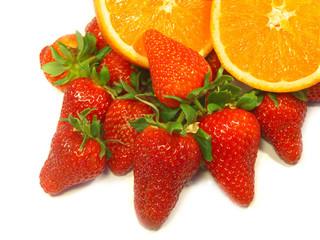 morangos e laranjas