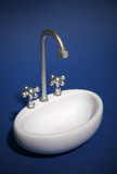 sink (focus on nozzle) poster