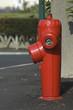 borne incendie rouge