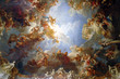 Leinwanddruck Bild - chapel ceiling