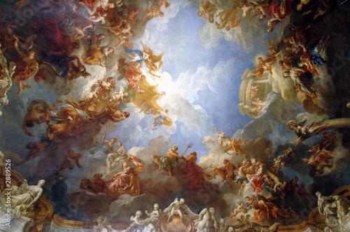 Leinwanddruck Bild chapel ceiling