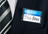 close-up of a humorous nametag poster