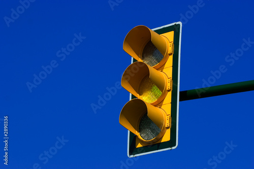 yellow trafic light