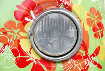 headlamp of hippie car
