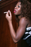 black woman smoking poster