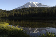 mt rainier and reflection lake at sunrise