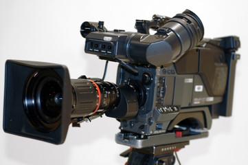 gros plan camera de reportage