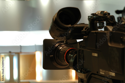 camera tv dans studio