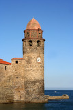collioure fort poster