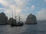 pirate ship at baja peninsula poster