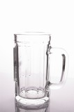 an empty beer mug