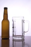 beer mug and bottle