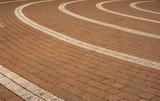 circular paving pattern poster