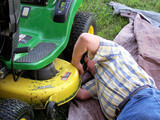 repairing the riding lawn mower #2 poster