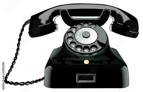Leinwanddruck Bild telefon