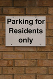 residents only parking sign poster
